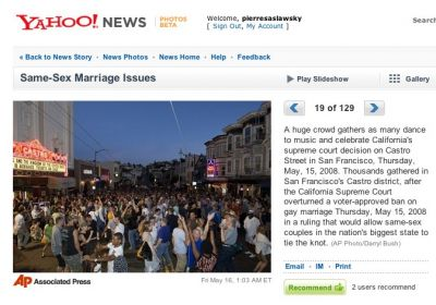 May 15th, 2008. The happiest day in San Francisco since 1849.