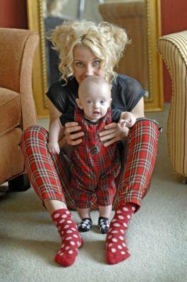 Merritt and her baby cameleon